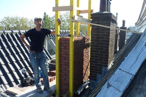 schoorsteenwerkzaamheden warmondstraat amsterdam